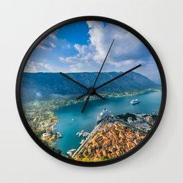 The Bay of Kotor Wall Clock