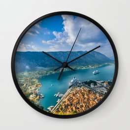 The Bay of Kotor Wall Clock