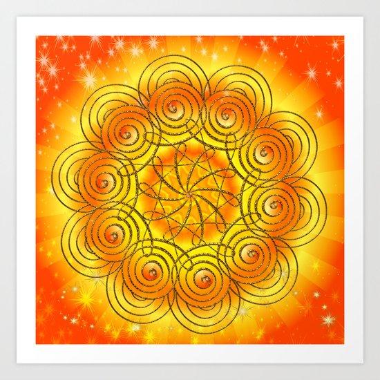Mandala harmony Art Print