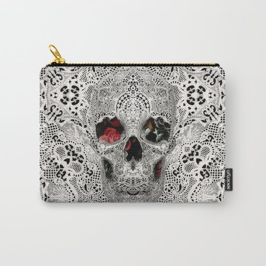 Lace Skull Light Carry-All Pouch