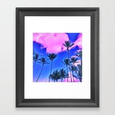 Pink Island Framed Art Print