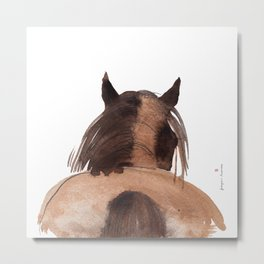 Horse (Mane&tail) Metal Print