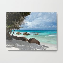 TURQUOISE TRANQUILITY Metal Print
