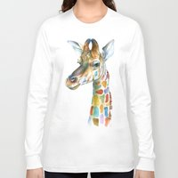 kindle Long Sleeve T-shirts featuring Giraffe by Brandon Keehner
