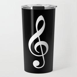 Black and White - Treble Clef Travel Mug