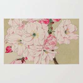 Fukurokuju - God of Longevity Cherry Blossoms Rug