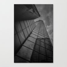 looking up; feeling grey... Canvas Print