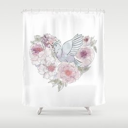 bird of paradise , paradisebirds , simple floral graphic design , gift for gardener Shower Curtain