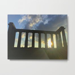 National Monument of Scotland Sunny Day Metal Print