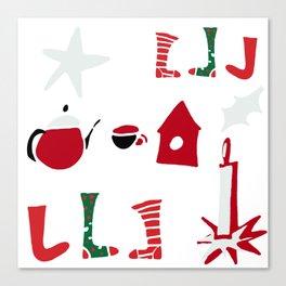 Christmas Cosy white Canvas Print