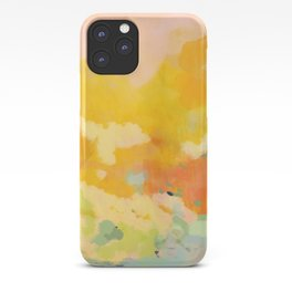 abstract spring sun iPhone Case