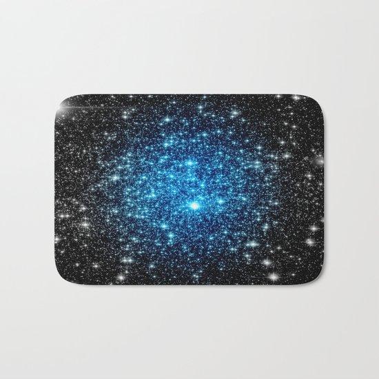 GaLaXY Sparkle Stars :  Blue Pop of Color Bath Mat