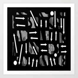 Arrows and Direction Art Print
