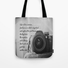 Life is Like a Camera Tote Bag