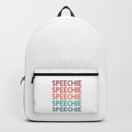 Speechie SLP Speech Language Pathology Backpack