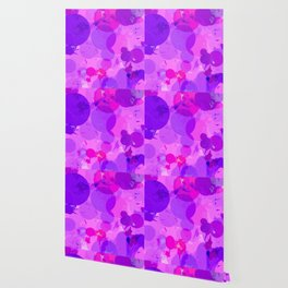 geometric circle and triangle pattern abstract in pink purple Wallpaper