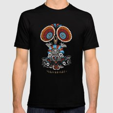 Mexican Owl LARGE Black Mens Fitted Tee