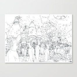 Paesaggio alieno Canvas Print