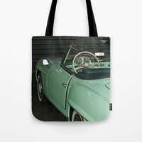 car Tote Bags featuring Car by Vlad&Lyubov