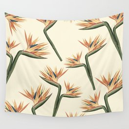 Birds of Paradise Flowers Wall Tapestry