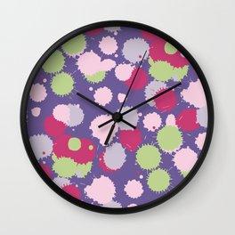 Blot ultra violet seamless pattern. Vector illustration Wall Clock