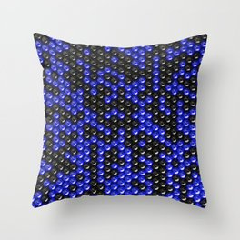 Pattern of black and blue spheres Throw Pillow