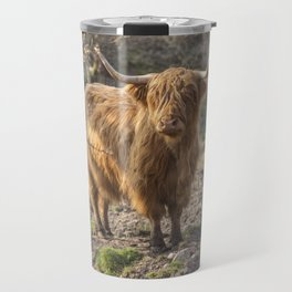 Massive ginger Scottish Highland cow Travel Mug