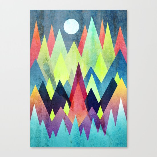 Land of northern lights Canvas Print