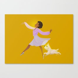 Ease on down Canvas Print