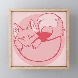 Teacup Sencha Fox- Apple Red Framed Mini Art Print