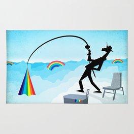 Fishing For Rainbows Rug