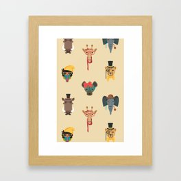 Hipster Jungle Framed Art Print