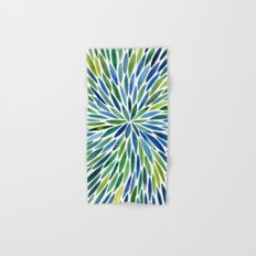 Watercolor Burst – Blue & Green Hand & Bath Towel