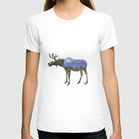 moose T-shirts featuring MOOSE by James Wetherington