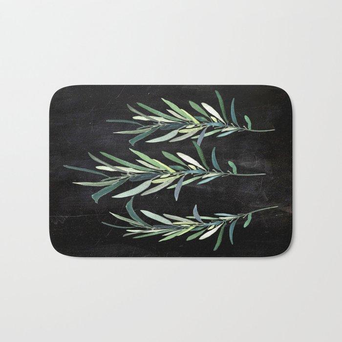 Eucalyptus Branches On Chalkboard Bath Mat
