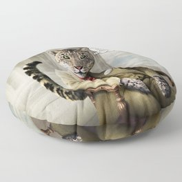 Sir Sebastian Snow Leopard Floor Pillow