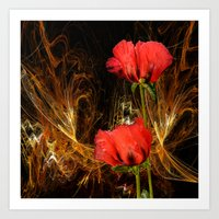 passion Art Prints featuring Passion by LudaNayvelt