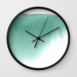 SIMPLE FOREST GREEN STROKE Wall Clock