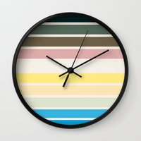 nausicaa Wall Clocks featuring The colors of - Nausicaa by hyos