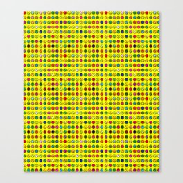 Multi-coloured Pills Pattern Canvas Print