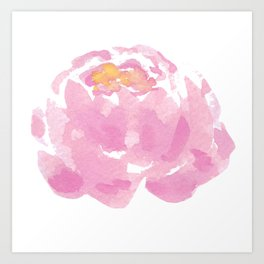 The Peony drawing flower, Hand-drawn Peony isolated Art Print