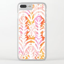 Beautiful Colorful Spicy Colors Moroccan Traditional Pattern Seamless Pattern Clear iPhone Case