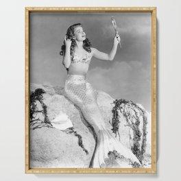 Vintage Mermaid : Mr Peabody & The Mermaid Serving Tray