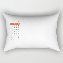 Linux - limitless, inspiring, natural, useful, extrovert - horizontal Rectangular Pillow
