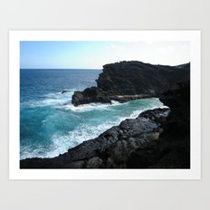 HALONA BLOWHOLE & BEACH COVE Art Print