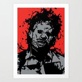 August 18, 1973: Bloodstain Leatherface (color combination D) Art Print