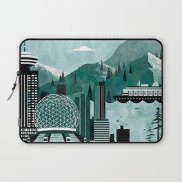 Vancouver Travel Poster Illustration Laptop Sleeve