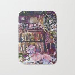 """Magic Poodle Land"" by Lindsay Wiggins Bath Mat"