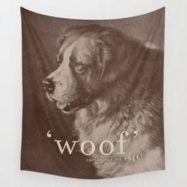 Famous Quotes #1 (anonymous dog, 1941) Wall Tapestry