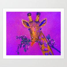 Psychedelic Giraffe Art Print
